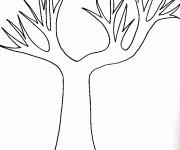 Coloriage arbres nu automne dessin gratuit imprimer - Dessin arbre nu ...