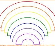 Coloriage dessin  Arc-en-ciel 1