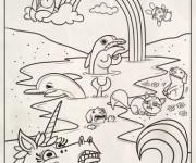 Coloriage dessin  Arc-en-ciel 15
