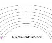 Coloriage dessin  Arc-en-ciel 5