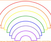 Coloriage et dessins gratuit Arc-en-ciel couleur dans l'ordre à imprimer