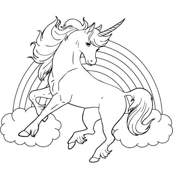 Coloriage Arc En Ciel Et Licorne Dessin Gratuit à Imprimer