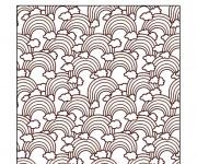 Coloriage et dessins gratuit Arc-en-ciel mandala à imprimer