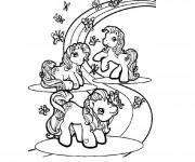 Coloriage et dessins gratuit Arc-en-ciel maternelle à imprimer