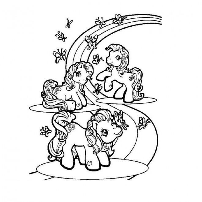 Coloriage et dessins gratuits Arc-en-ciel maternelle à imprimer