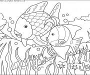 Coloriage et dessins gratuit Les Poissons à découper à imprimer