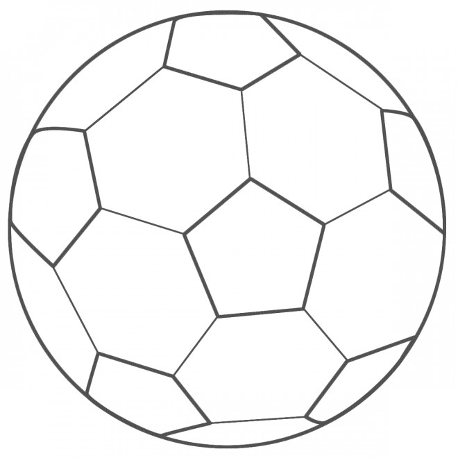 Coloriage et dessins gratuits Ballon de Foot à imprimer