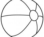 Coloriage dessin  Ballon de Plage 1