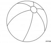 Coloriage dessin  Ballon de Plage 10