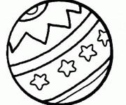 coloriage ballon de plage gratuit à imprimer