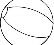 Coloriage dessin  Ballon de Plage 12