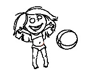 Coloriage dessin  Ballon de Plage 14