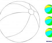 Coloriage dessin  Ballon de Plage 2
