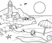 Coloriage dessin  Ballon de Plage 8