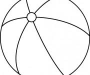 Coloriage et dessins gratuit Ballon de Plage à décorer à imprimer