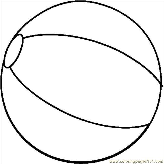 Coloriage Ballon de Plage t l charger