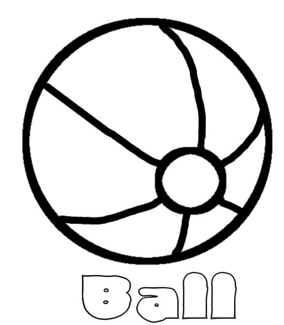 Coloriage et dessins gratuits Ballon de Plage en noir à imprimer