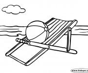 Coloriage et dessins gratuit Ballon de Plage sur la chaise longue à imprimer