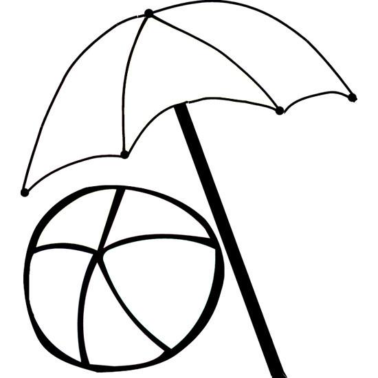 Dessin Parasol coloriage ballon et parasol de plage dessin gratuit à imprimer