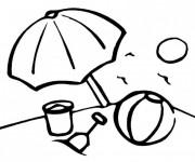 Coloriage et dessins gratuit Jouets de Plage pendant L'été à imprimer