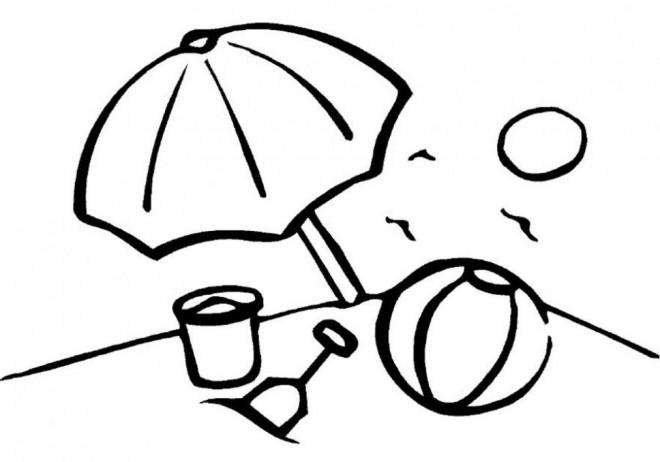 Coloriage et dessins gratuits Jouets de Plage pendant L'été à imprimer
