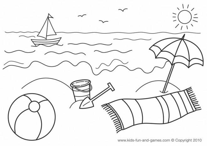 Coloriage et dessins gratuits Plage et Mer en été à imprimer