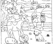 Coloriage dessin  Animaux de Ferme 10