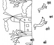 Coloriage Campagne maternelle