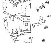 Coloriage et dessins gratuit Campagne maternelle à imprimer