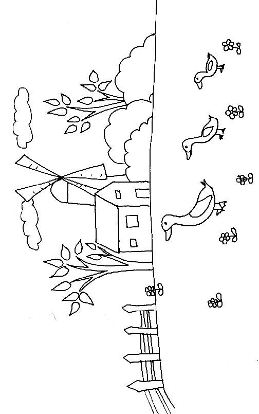 Coloriage et dessins gratuits Campagne maternelle à imprimer