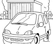 Coloriage et dessins gratuit Paysage de voiture à la Campagne à imprimer