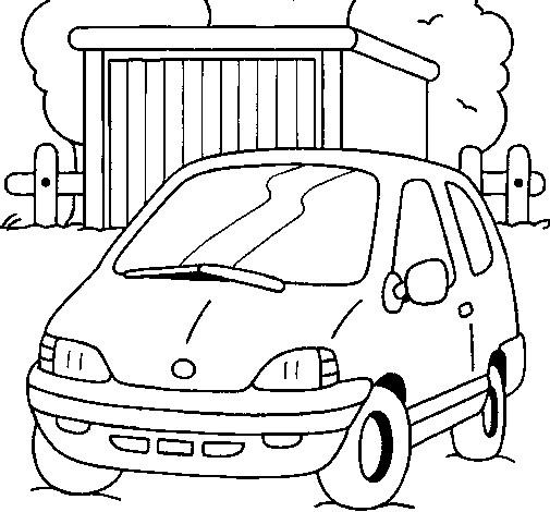 Coloriage et dessins gratuits Paysage de voiture à la Campagne à imprimer