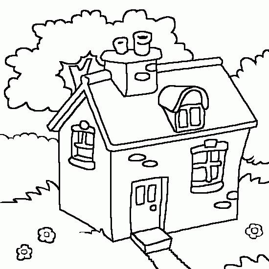 Coloriage Une Maison Dans La Campagne Dessin Gratuit A Imprimer