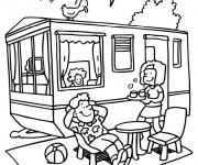 Coloriage camping gratuit imprimer - Camping car a colorier ...