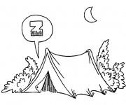 Coloriage dessin  Camping 11