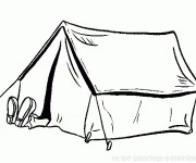 Coloriage dessin  Camping 13
