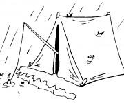 Coloriage dessin  Camping 15