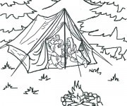 Coloriage dessin  Camping 2