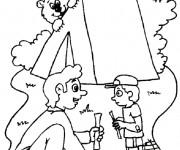 Coloriage dessin  Camping 5