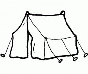 Coloriage dessin  Camping 9