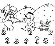 Coloriage et dessins gratuit Camping à la Campagne à imprimer
