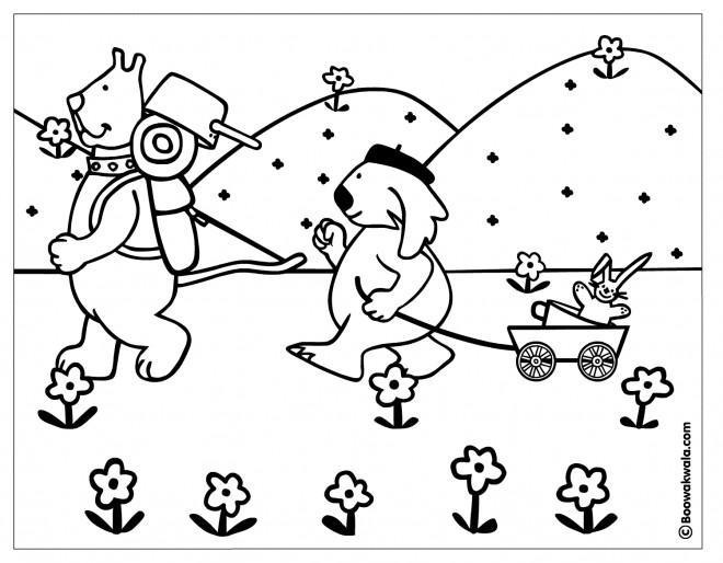 Coloriage et dessins gratuits Camping à la Campagne à imprimer