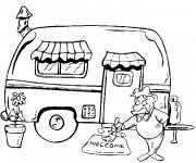 Coloriage et dessins gratuit Camping Car à imprimer