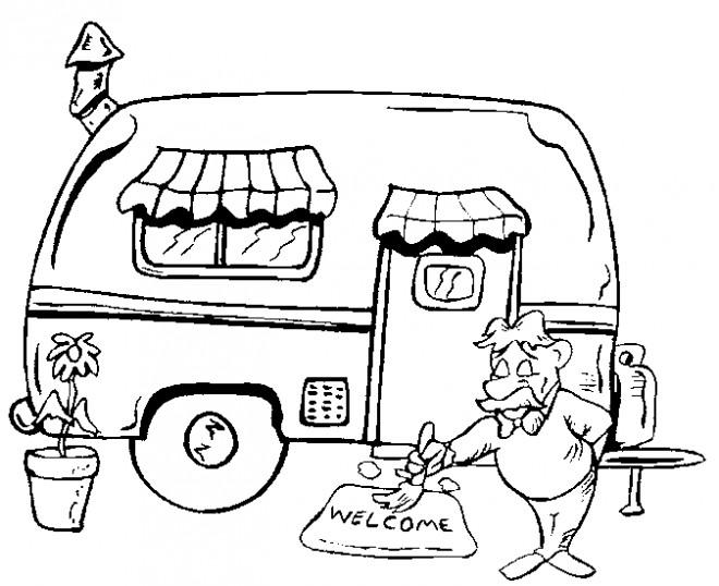 Camping Car Dessin coloriage camping car dessin gratuit à imprimer