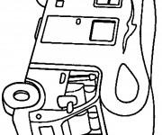 Coloriage et dessins gratuit Camping car à décorer à imprimer