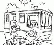Coloriage Camping Car sous le soleil