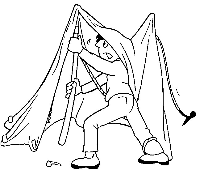 Coloriage et dessins gratuits Camping Difficile à imprimer