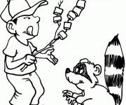 Coloriage et dessins gratuit Camping humoristique à imprimer