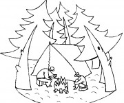 Coloriage Camping Loisirs