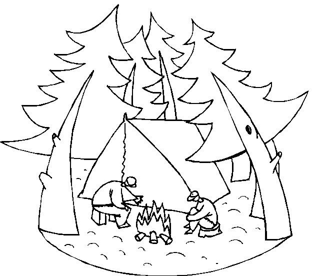 Coloriage et dessins gratuits Camping Loisirs à imprimer